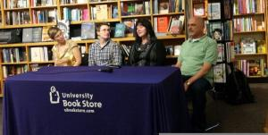Love with Pride authors Daisy Harris, Laylah Hunter, J. Tullos Hennig, and Nick DiMartino.