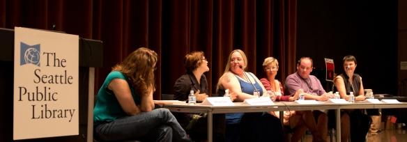 GRNW Panel: Megan Derr, Astrid Amara, Stormy Glenn, Daisy Harris, Ethan Stone, and Anne Tenino