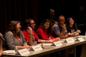 GRNW authors Heidi Belleau, Kade Boehme, Ginn Hale, Rick R. Reed, and Andrea Speed