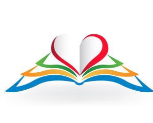 53035439 - book with heart love shape .educational logo vector image